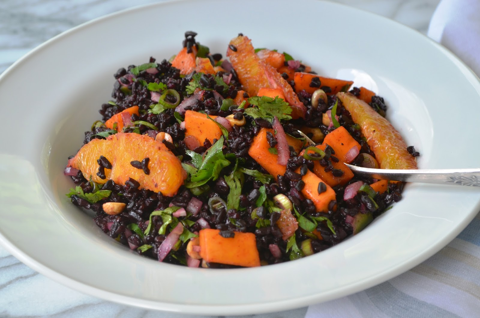 ... recipes and great photos.: Black Rice Salad with Mango and Peanuts