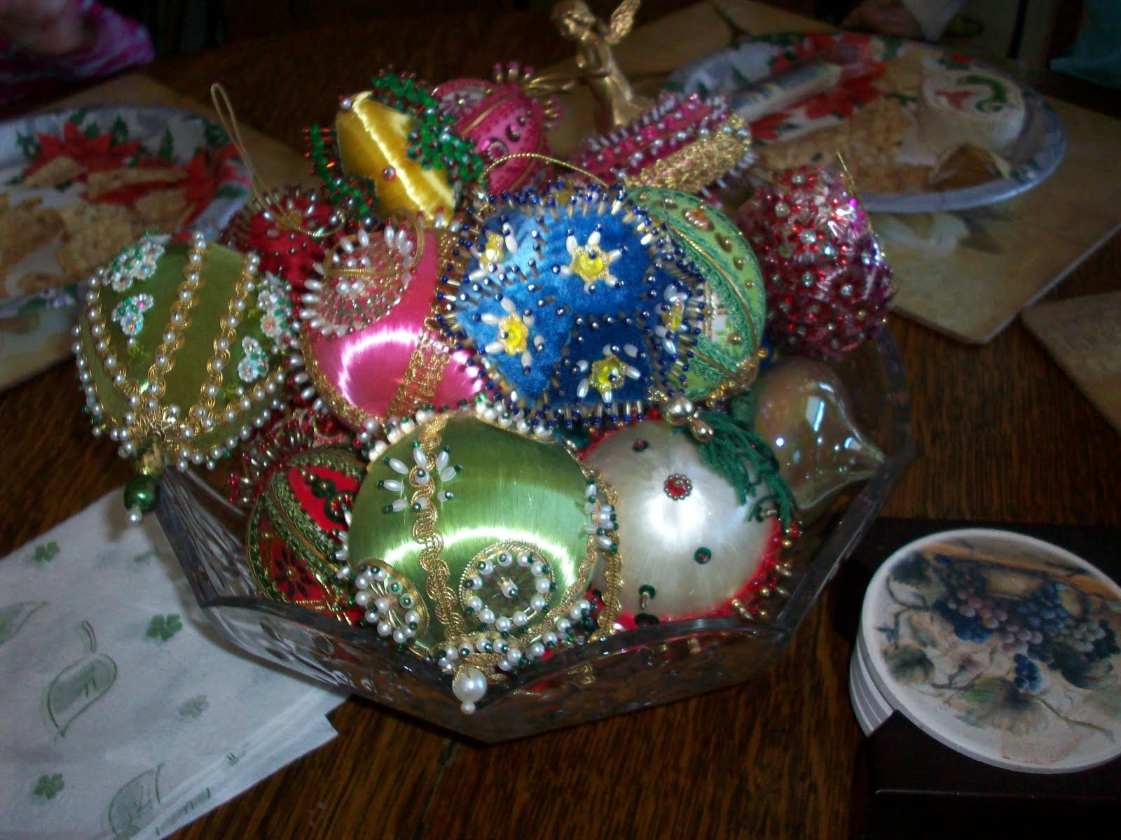 And Here's Another Bowl Of Handmade Ornaments Joy Is Very Talented!