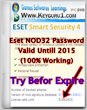 Activation Serial Number Key Latest Valid Until 2015  100% Working