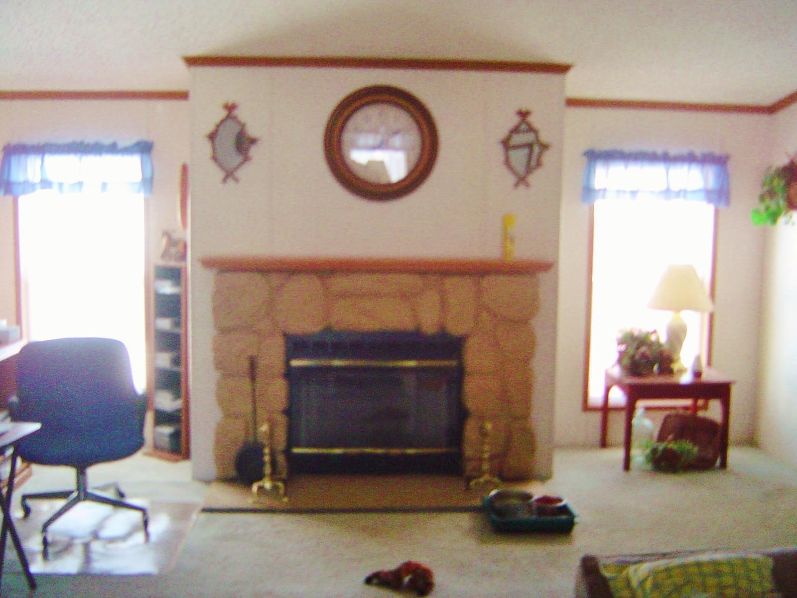 Mobile Home Design Fireplace Mantel Re-Design 2015 | Mobile Home ...