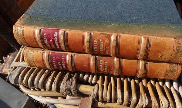 Old Leather Books, Cathedrals and Churches from England