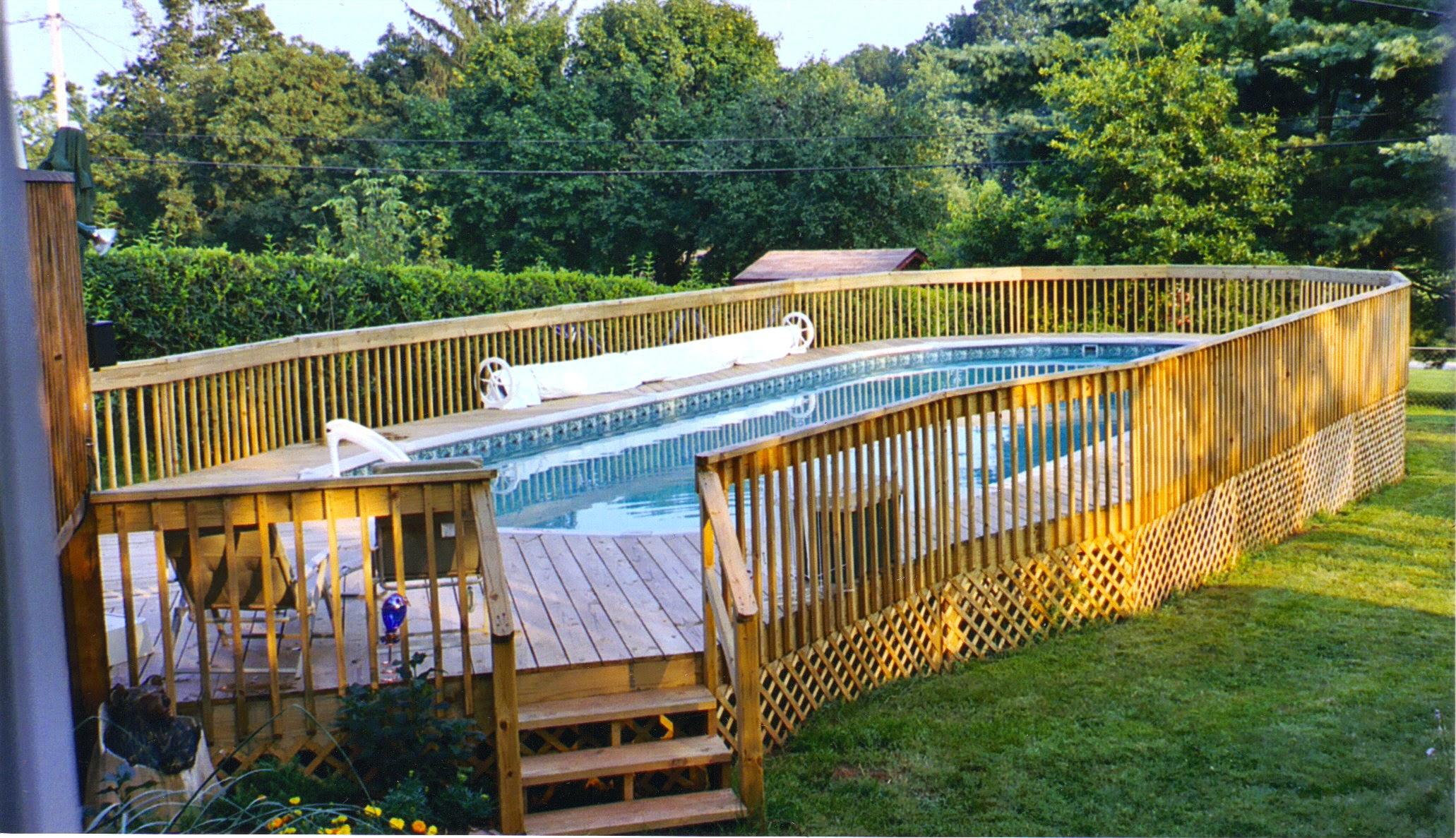 above ground pool decks stunning