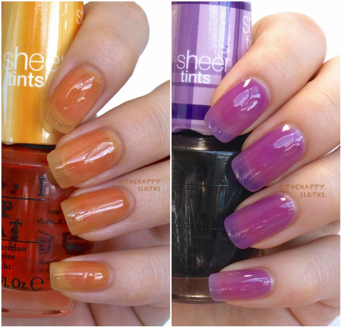 Sheer Pink Opi Nail Polish: OPI Sheer Tints Top Coat: Review And Swatches