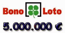 Sorteo con bote de 5 millones en la Bonoloto del viernes 27 de junio