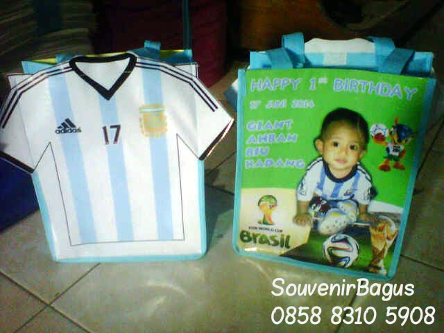 Tas Ulang Tahun Jersey Argentina Piala Dunia 2014 Brazil