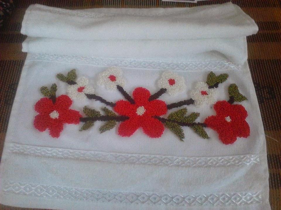 panç ile havlu işlemeleri, havlu kenarı