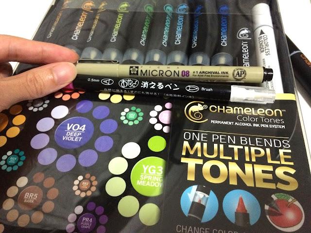 Illustration demo Chameleon Markers pen