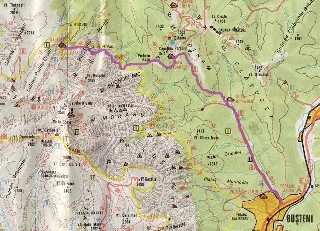 harta traseu malaiesti prepeleac