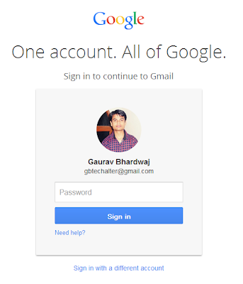 Google Account new Login Page after logout