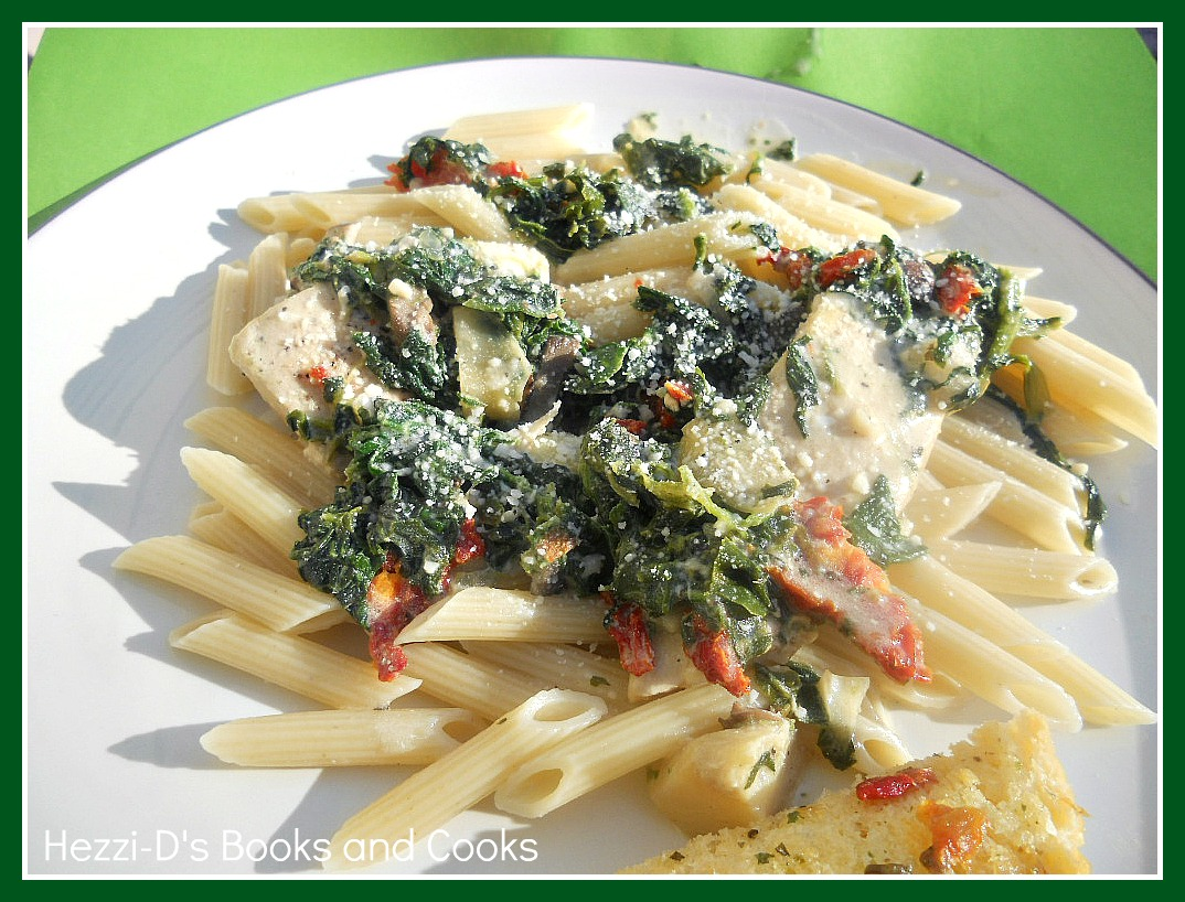 Chicken Florentine Pasta with a White Wine Cream Sauce - Hezzi-D's ...