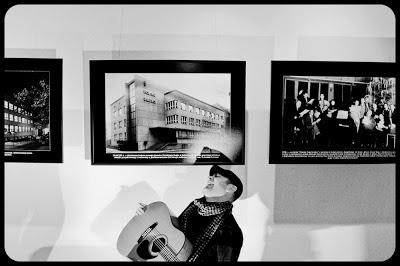 Fotografia zespołu Box Canyon podczas programu w Radio Katowice. Jeff Shiffman, Artur Iwanecki. fot. Łukasz Cyrus, Ruda Śląska.