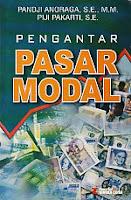 toko buku rahma: buku PENGANTAR PASAR MODAL, pengarang pandji anoaga, penerbit rineka cipta
