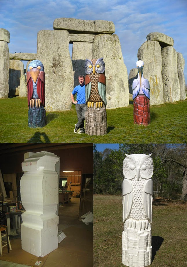 The styrofoam and eps foam block sculptures