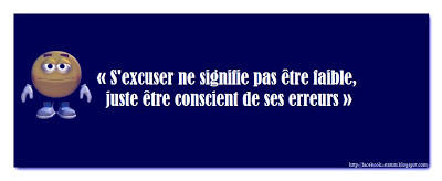 Un statut facebook d'excuse