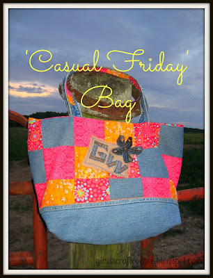Upcycled Blue Jeans to Incredible Bag