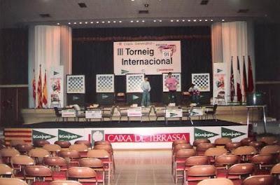 Sala de juego del III Torneo Internacional de Ajedrez Terrassa