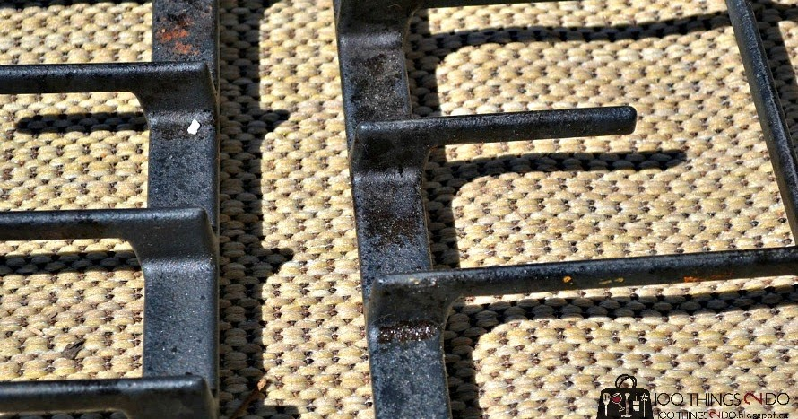 how to clean gas cooktop grates