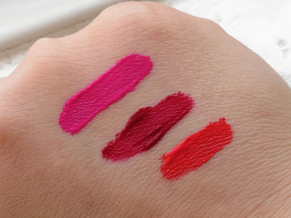 MUA Velvet Lip Lacquer Swatches