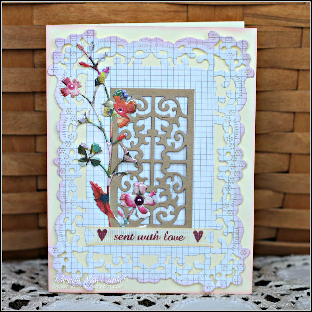 ent with Love Card featuring C'est Magnifique August Card Kit including Bohemian Collection by Dovecraft designed by Guest Designer Rhonda Van Ginkel
