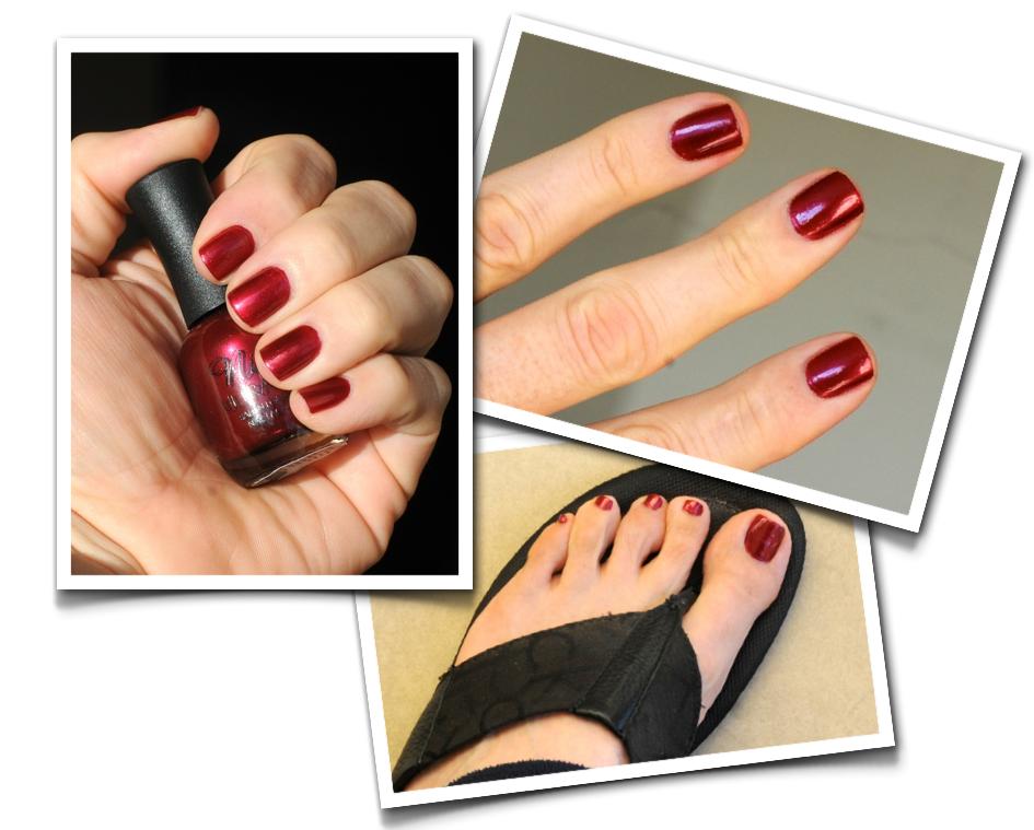 Men can wear nail polish: Nina Ultra Pro Burgundy