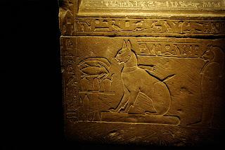 Sarcophagus of Prince Thutmose's cat Ta-miu - Egyptian Museum Cairo