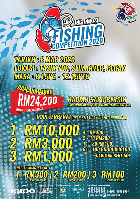 IGLOO Fishing Competition di Slim River pada 8 Mac 2020