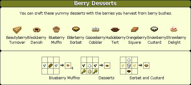 Plant Mega Pack Mod berry desserts