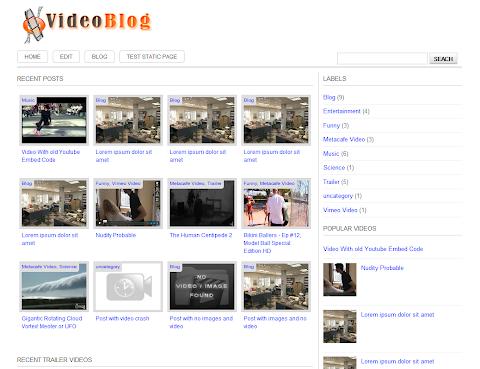 VideoBlog Blogger Theme