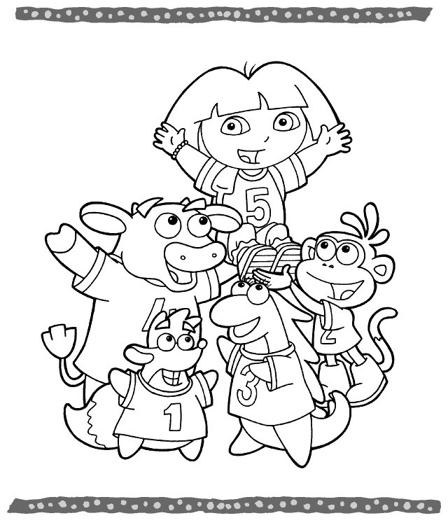 Books coloring pages dora for Princess dora coloring pages