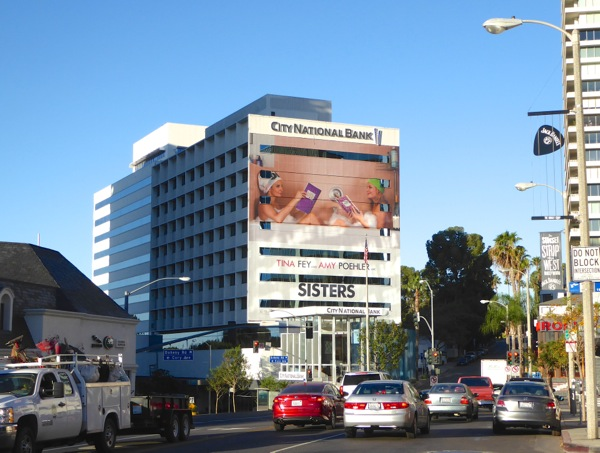 Giant Sisters movie billboard Sunset Strip