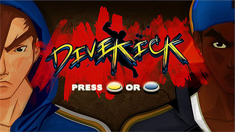Dive Kick menu screen - with two-button / two-switch play.