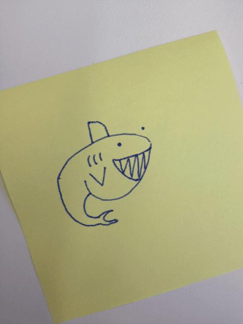 Comment dessiner un requin dessein de dessin - Dessin requin facile ...