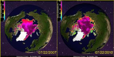 Polar Ice Cap Growing