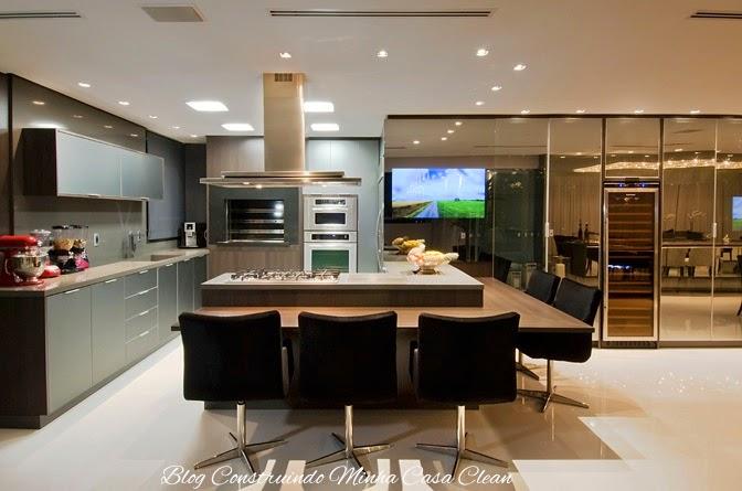 Construindo minha casa clean tvs embutida em vidros - Armarios para sala de estar ...