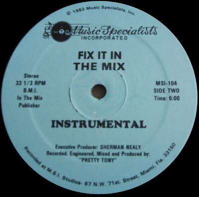 Pretty Tony – Fix It In The Mix (1983) 12'' – 320 kb/s