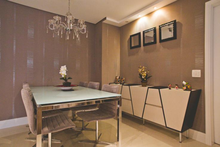 Aparador Mdf Pintado ~ Construindo Minha Casa Clean 21 Salas de Jantar dos