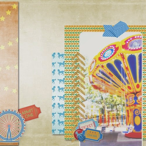 Ferris Wheel Carnival Digital Scrapbooking Page