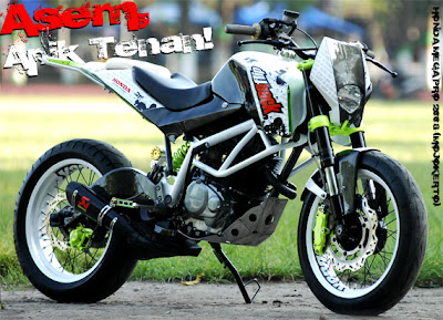 Sporty Modifikasi Honda Mega Pro trail