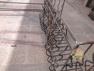 شباك الحديد المشعول لواجهة المنزل