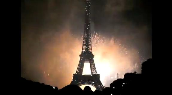 Feu d'artifice Tour Eiffel 14 juillet 2011
