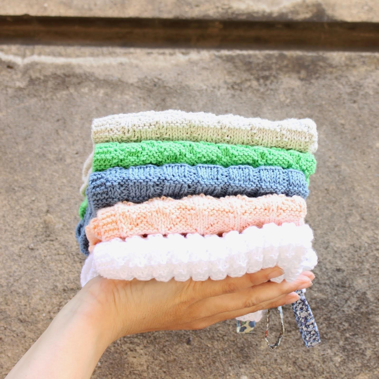 Tusindfryds -Strikkede Håndklæder