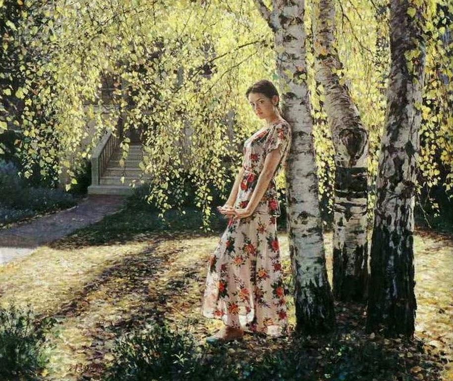 GUAN ZEJU ( Pintura) Pinturas+realistas+femeninas