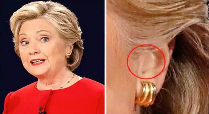 Σάλος από το ακουστικό που φορούσε στο αυτί η Χίλαρι στο debate