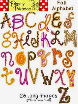 http://www.teacherspayteachers.com/Product/Fall-Alphabet-Primary-Polka-Dots-Clip-Art-878198