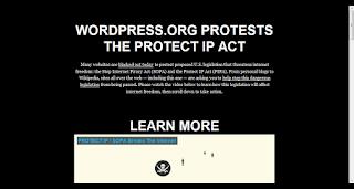 wordpress.org oppose SOPA