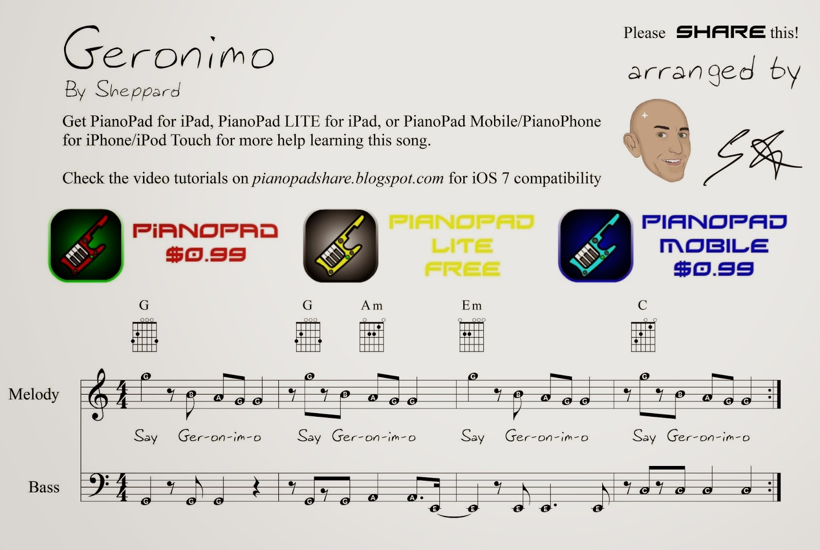 Pianopad Upload Community Geronimo By Sheppard Uploaded By Gh