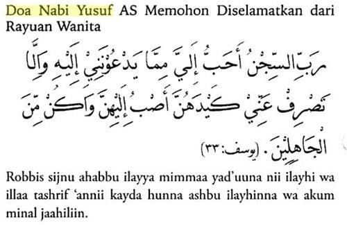 doa nabi yusuf, kisah, cerita, nabi, zulaikha, tergoda, godaan, wanita