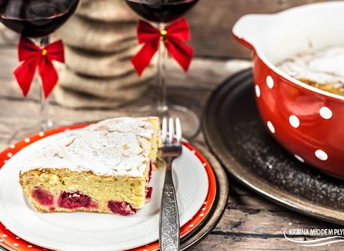 Clafoutis- wiśnie pod kremowym ciastem