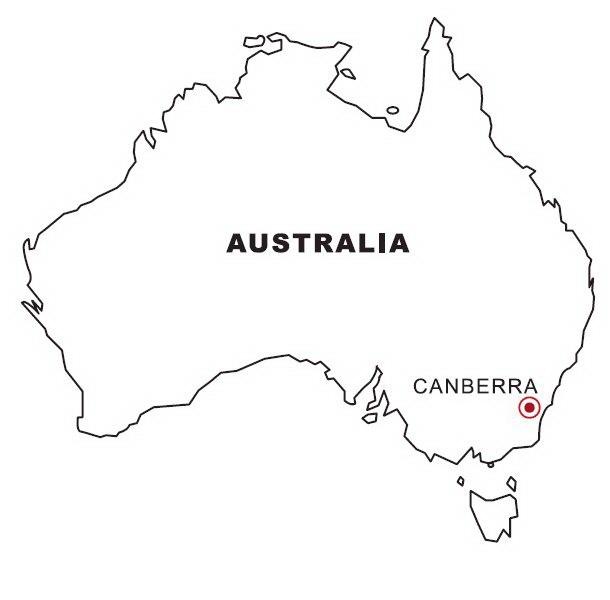 LAMINAS PARA COLOREAR - COLORING PAGES: Mapa y Bandera de Australia ...