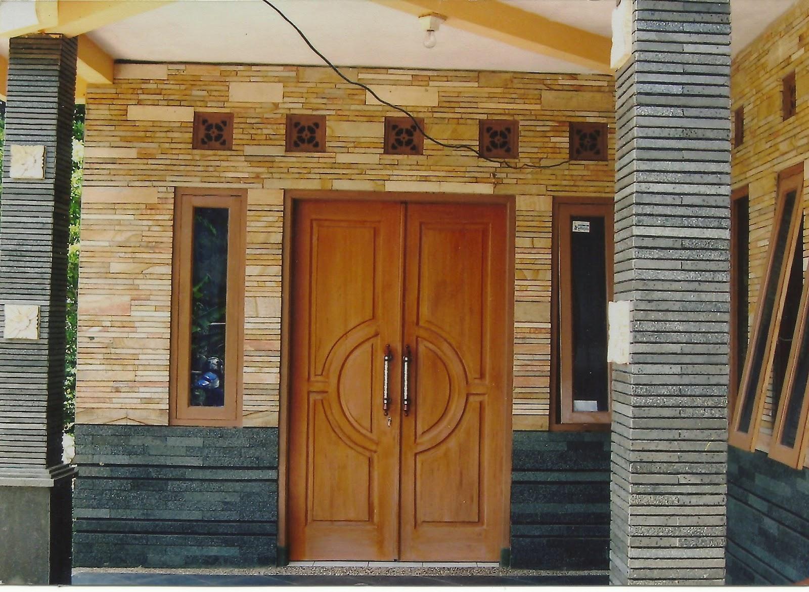 keramik batu alam untuk dinding depan rumah